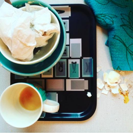 Frukostbricka - kärleksord