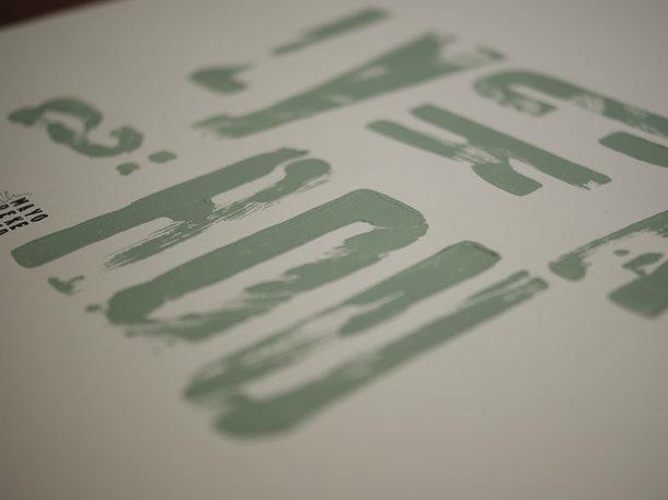 """Texttavla - """"lycka är du"""" grön"""